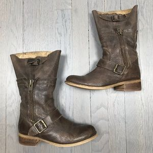 STEVEN by Steve Madden Dante Brown Leather Boots